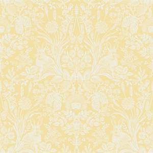 Holden Decor Harlen Woodland Damask Smooth Yellow Wallpaper