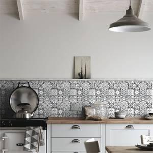 HoM Geo Moroccan Black & White Mosaic Tile - 297 x 297mm