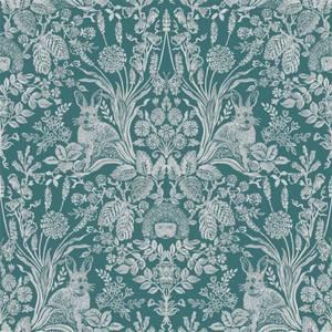 Holden Decor Harlen Woodland Damask Smooth Dark Green Wallpaper