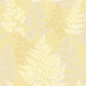 Holden Decor Bramble Leaf Smooth Yellow Wallpaper