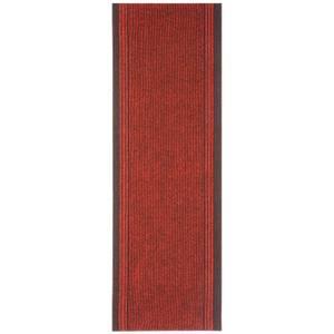 Striped Border Runner - Red