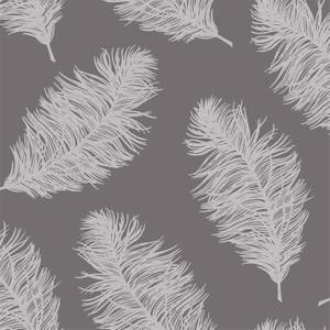 Holden Decor Hawthorn Feathers Smooth Grey Wallpaper