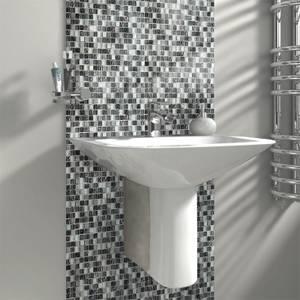 HoM Petrol Marble Mix Mosaic Tile - 300 x 300mm