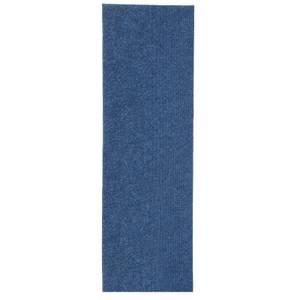 Ribbed Extra Long Runner - Blue