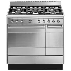 Smeg SUK92MX9-1 90cm Concert Stainless Steel Dual Cavity Dual Fuel Cooker