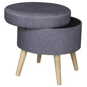 Round Storage Stool - Grey