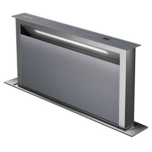 Smeg KDD90VXSE 90cm Island Downdraft Hood - Stainless Steel & Silver Glass