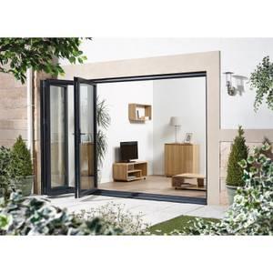 Aluvu Exterior Door- Foldslide 4 Door - Left Hand Stack - Grey - 3.6m