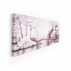 Watercolour Forest Bridge Canvas