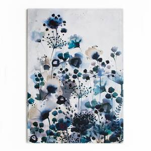 Moody Blue Watercolour Canvas