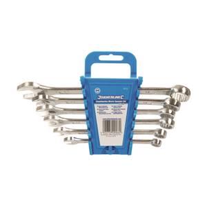 Silverline 6 Piece Combination Spanner Set - 8-17mm