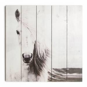 Horse Print Wooden Wall Art