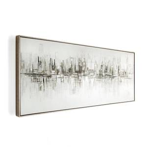 New York Reflections Framed Canvas