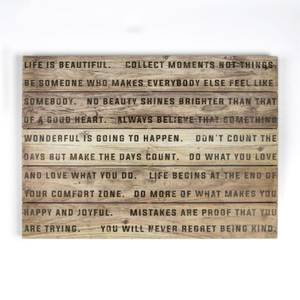 Life Is Beautiful Wooden Wall Art