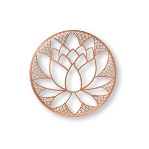 Lotus Blossom Rose Gold Metal