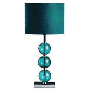 Mistro Teal Suede Effect Shade Table Lamp