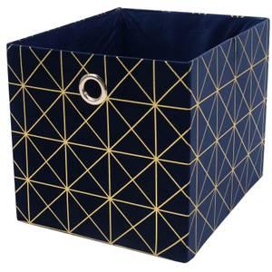 Premium Cube Velvet Insert - Navy & Gold