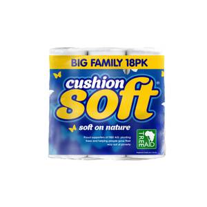 Cushion Soft Toilet Paper Roll - Pack of 18