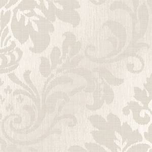 Grandeco Royal House Fabric Damask Taupe Wallpaper