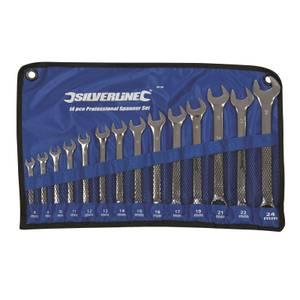Silverline 14 Piece Combination Spanner Set - 8 -24mm