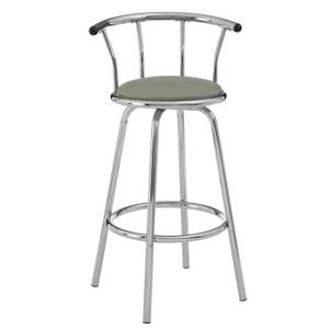 Grey Padded Seat Revolving Bar Stool