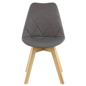Stockholm Diamond Pattern Dining Chair - Grey