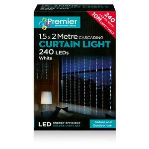 240 Multi - Action Waterfall Lights With White LEDs