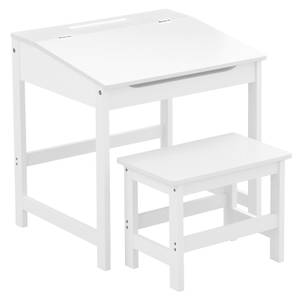 Kids Desk and Stool - White