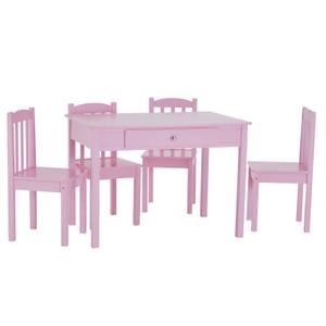 Kids 4 Seater Dining Set - Pink