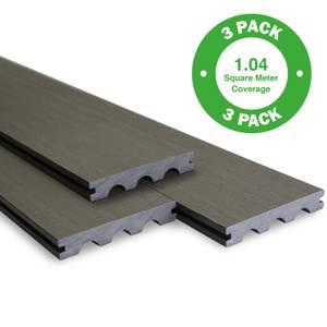 Bridge Board Composite Decking - 3 Pack - Grey - 1.04 m2