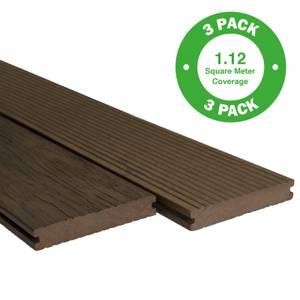 Heritage Board Composite Decking - 3 Pack - Cedar - 1.12m2