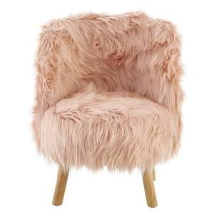 Kids Faux Fur Chair - Pink