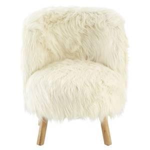 Kids Faux Fur Chair - White