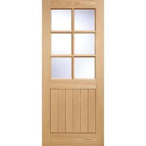 Cottage - 6 Lite Glazed Exterior Door - Oak - 1981 x 762 x 44