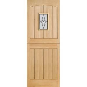 Cottage - Stable - 1 Lite Glazed Exterior Door - Oak - 1981 x 762 x 44