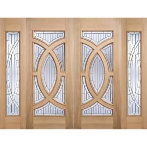 Majestic - Glazed - Oak - Sidelight Exterior Door - 1981 x 457 x 44
