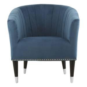 Doucet Velvet Chair - Blue