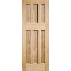 60's Style - Oak Internal Fire Door - 1981 x 762 x 44mm