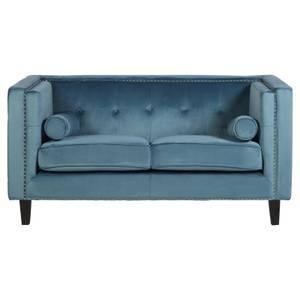 Felisa 2 Seat Velvet Sofa - Blue