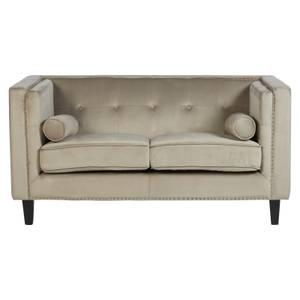 Felisa 2 Seat Velvet Sofa - Mink