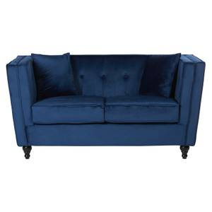 Ferris Velvet 2 Seat Sofa - Blue