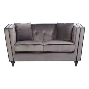 Ferris Velvet 2 Seat Sofa - Grey
