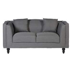 Feya 2 Seat Fabric Sofa - Grey