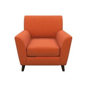 Nirvana Velvet Accent Chair - Rust