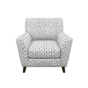 Nirvana Patterned Accent Chair - Dove