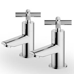 Colwith Basin Pillar Taps - Chrome
