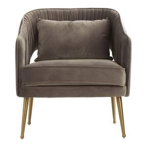 Hendricks Velvet Chair - Grey