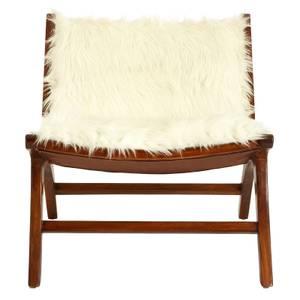 Inca Faux Fur Angled Chair