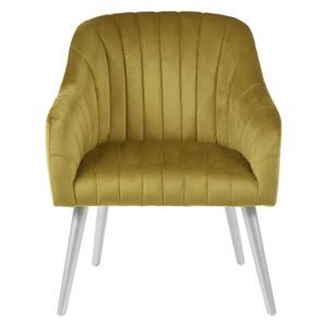 Louxor Fabric Armchair - Mustard