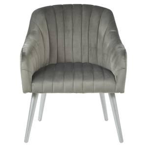 Louxor Fabric Armchair - Grey